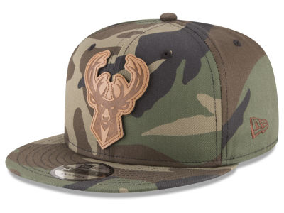 Milwaukee Bucks New Era NBA Sergeant Camo 9FIFTY Snapback Cap