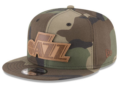 Utah Jazz New Era NBA Sergeant Camo 9FIFTY Snapback Cap