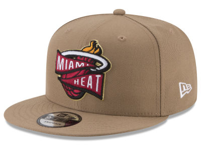 Miami Heat New Era NBA Team Banner 9FIFTY Snapback Cap