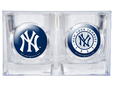 New York Yankees 2 pc Square Shotglass Set