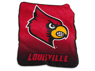 Louisville Cardinals Logo Brands Raschel Throw