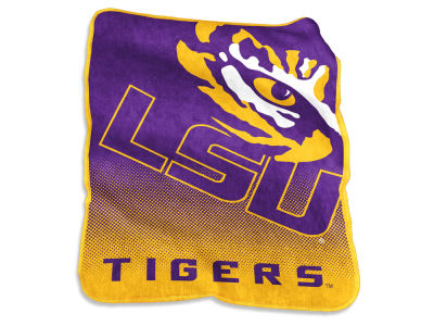 LSU Tigers Logo Brands Raschel Throw