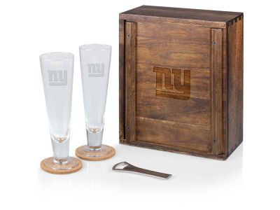 New York Giants Picnic Time Boxed Pilsner Glass Set
