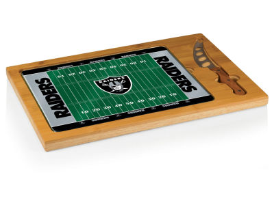 Oakland Raiders Picnic Time Icon Cutting Board