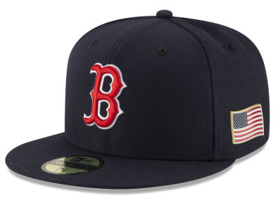 Boston Red Sox New Era MLB Authentic Collection 9-11 Patch 59FIFTY Cap