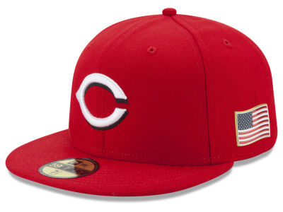 Cincinnati Reds New Era MLB Authentic Collection 9-11 Patch 59FIFTY Cap