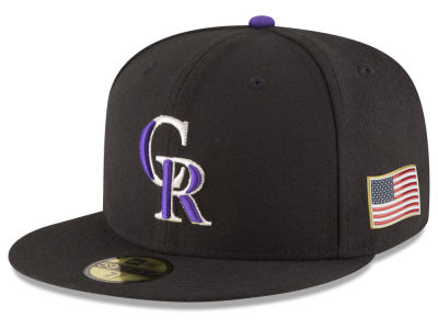 Colorado Rockies New Era MLB Authentic Collection 9-11 Patch 59FIFTY Cap