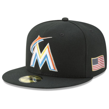 Miami Marlins New Era MLB Authentic Collection 9-11 Patch 59FIFTY Cap