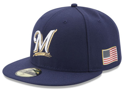 Milwaukee Brewers New Era MLB Authentic Collection 9-11 Patch 59FIFTY Cap
