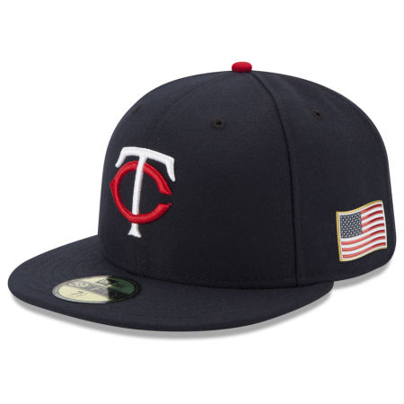 Minnesota Twins New Era MLB Authentic Collection 9-11 Patch 59FIFTY Cap