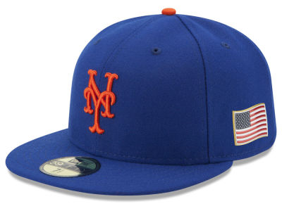 New York Mets New Era MLB Authentic Collection 9-11 Patch 59FIFTY Cap