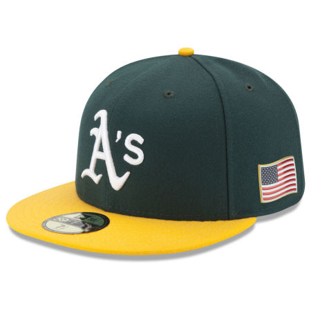 Oakland Athletics New Era MLB Authentic Collection 9-11 Patch 59FIFTY Cap