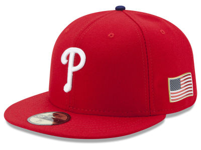 Philadelphia Phillies New Era MLB Authentic Collection 9-11 Patch 59FIFTY Cap