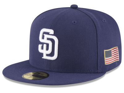 San Diego Padres New Era MLB Authentic Collection 9-11 Patch 59FIFTY Cap