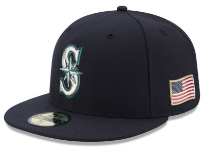 Seattle Mariners New Era MLB Authentic Collection 9-11 Patch 59FIFTY Cap