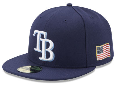 Tampa Bay Rays New Era MLB Authentic Collection 9-11 Patch 59FIFTY Cap