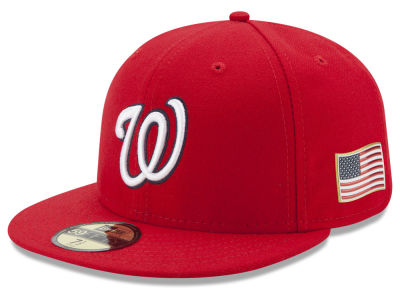 Washington Nationals New Era MLB Authentic Collection 9-11 Patch 59FIFTY Cap