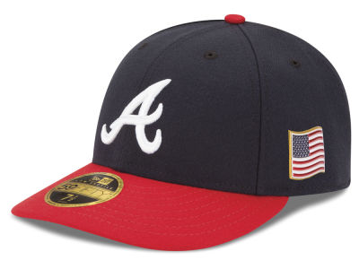Atlanta Braves New Era MLB Authentic Collection 9-11 Patch Low Profile 59FIFTY Cap