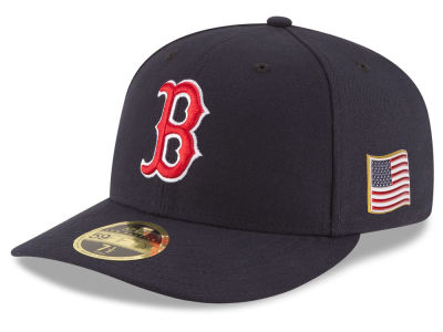 Boston Red Sox New Era MLB Authentic Collection 9-11 Patch Low Profile 59FIFTY Cap