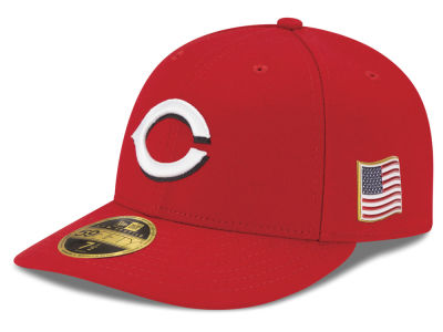 Cincinnati Reds New Era MLB Authentic Collection 9-11 Patch Low Profile 59FIFTY Cap