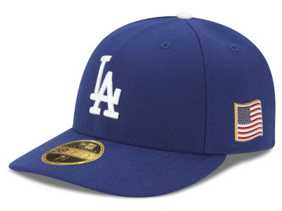 Los Angeles Dodgers New Era MLB Authentic Collection 9-11 Patch Low Profile 59FIFTY Cap