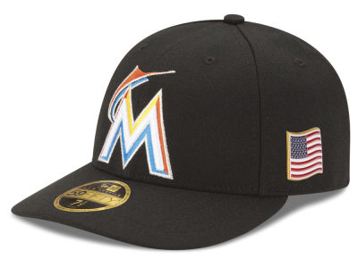 Miami Marlins New Era MLB Authentic Collection 9-11 Patch Low Profile 59FIFTY Cap
