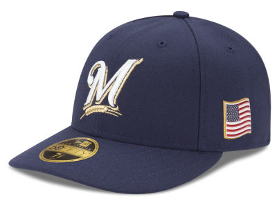 Milwaukee Brewers New Era MLB Authentic Collection 9-11 Patch Low Profile 59FIFTY Cap