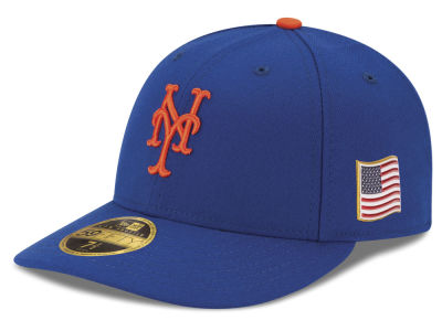 New York Mets New Era MLB Authentic Collection 9-11 Patch Low Profile 59FIFTY Cap