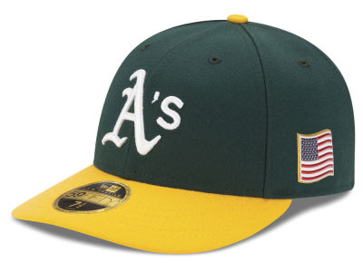 Oakland Athletics New Era MLB Authentic Collection 9-11 Patch Low Profile 59FIFTY Cap