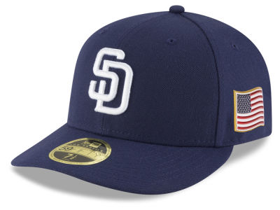 San Diego Padres New Era MLB Authentic Collection 9-11 Patch Low Profile 59FIFTY Cap