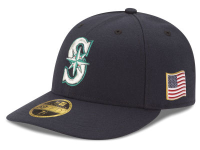 Seattle Mariners New Era MLB Authentic Collection 9-11 Patch Low Profile 59FIFTY Cap