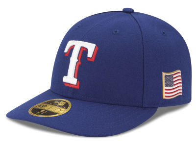 Texas Rangers New Era MLB Authentic Collection 9-11 Patch Low Profile 59FIFTY Cap