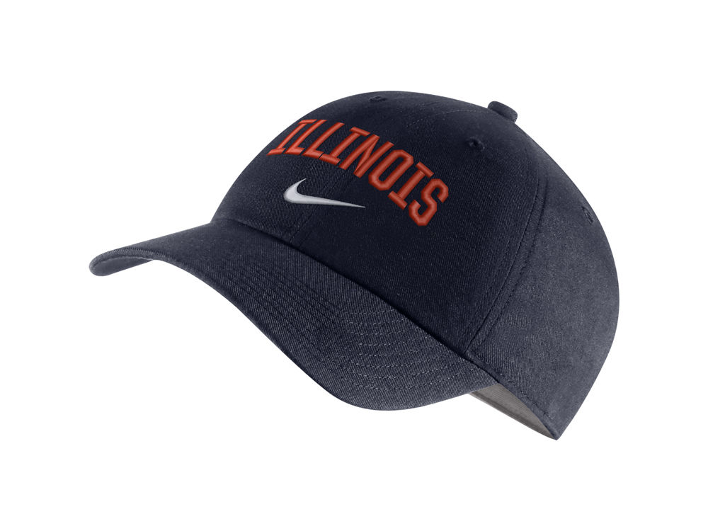 official photos f2f81 8200a ... shopping illinois fighting illini nike ncaa h86 wordmark swoosh cap  lids e6d79 16815