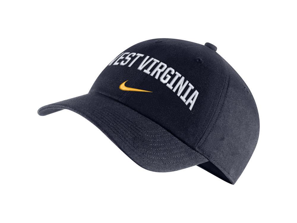 sale retailer 77015 ea819 uk west virginia mountaineers nike ncaa h86 wordmark swoosh cap 51ba2 1a056