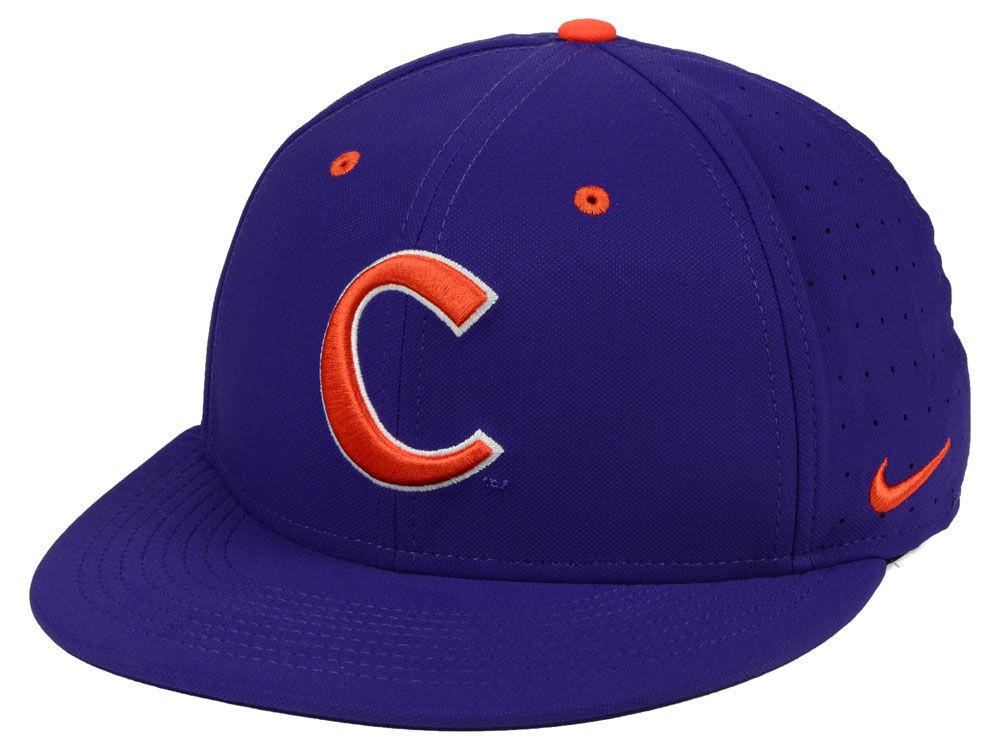 Clemson Tigers Nike NCAA Aerobill True Fitted Baseball Cap  c4d75501d79