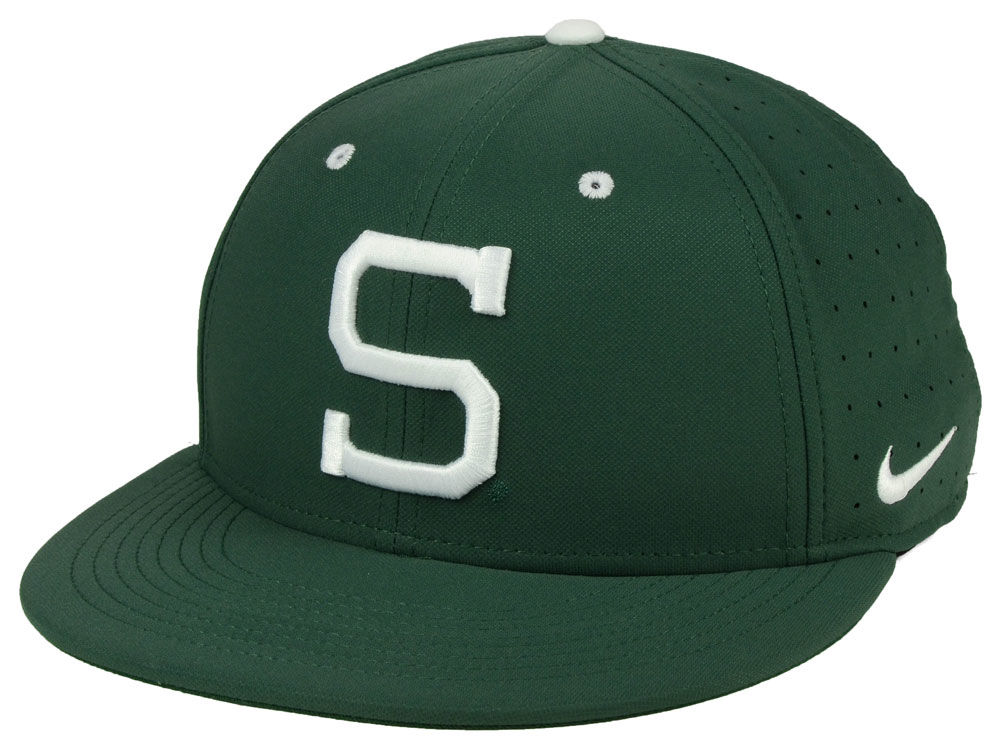 a6637d6703f2 ... greece michigan state spartans nike ncaa aerobill true fitted baseball  cap 34ea9 2bc1f