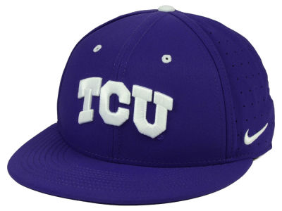Texas Christian Horned Frogs Nike NCAA Aerobill True Fitted Baseball Cap