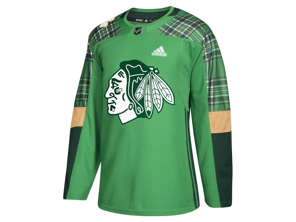 Chicago Blackhawks adidas NHL Men s St. Patrick s Day Authentic Jersey  7c922e8c0
