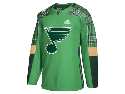 St. Louis Blues adidas NHL Men's St. Patrick's Day Authentic Jersey