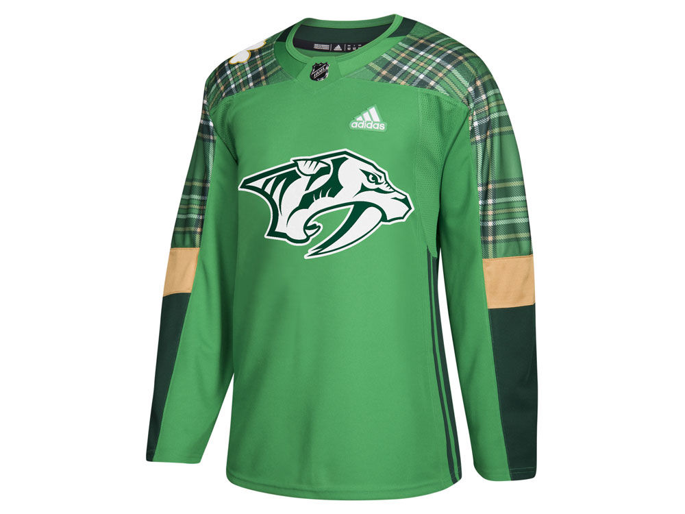 Nashville Predators adidas NHL Men s St. Patrick s Day Authentic Jersey  acb2cdf0a2b