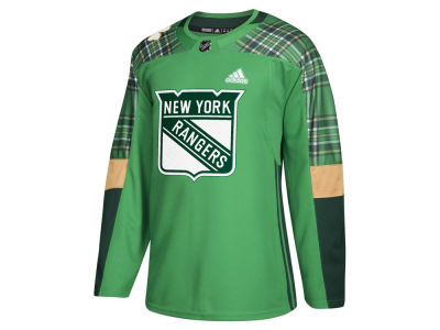 New York Rangers adidas NHL Men's St. Patrick's Day Authentic Jersey