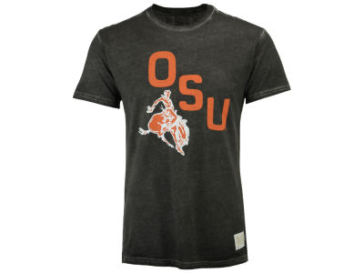 Oklahoma State Cowboys Retro Brand NCAA Men's Bucking Cowboy Oil Wash T-Shirt