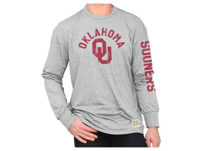 Oklahoma Sooners Retro Brand NCAA Men's Mock Twist Long Sleeve T-Shirt