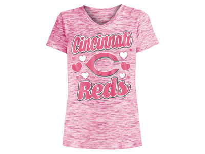 Cincinnati Reds 5th & Ocean MLB Girls Spacedye T-Shirt
