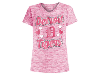 Detroit Tigers 5th & Ocean MLB Girls Spacedye T-Shirt