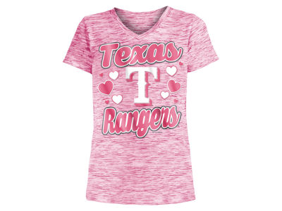 Texas Rangers 5th & Ocean MLB Girls Spacedye T-Shirt