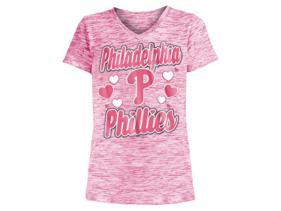Philadelphia Phillies 5th & Ocean MLB Girls Spacedye T-Shirt