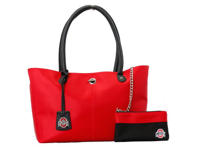 Ohio State Buckeyes Leather Tote with Coin Purse