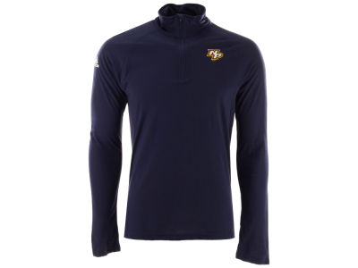 Nashville Predators adidas NHL Men's Secondary Logo Climatelite Quarter Zip Pullover