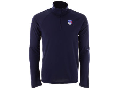 New York Rangers adidas NHL Men's Secondary Logo Climatelite Quarter Zip Pullover